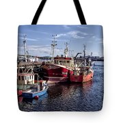 Fishing Boats In Killybegs Donegal Ireland Tote Bag