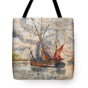 Fishing Boats In La Rochelle Tote Bag by Paul Signac