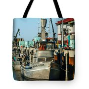 Fishing Boats In Nome Tote Bag