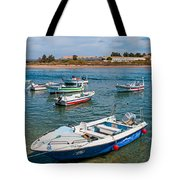 Fishing Boats Tote Bag by Luis Alvarenga