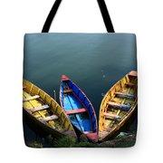 Fishing Boats - Nepal Tote Bag