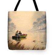 Fishing By Sunrise Tote Bag