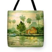 Fishing Cabin - Aucilla River Tote Bag