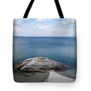 Fishing Cone Geyser In West Thumb Geyser Basin Tote Bag