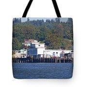 Fishing Docks On Puget Sound Tote Bag