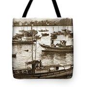 Fishing Fleet In Santa Cruz Harbor California Circa 1920 Tote Bag