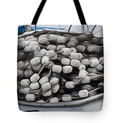 Fishing Floats On A Boat Tote Bag