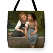 Fishing For Frogs Watercolor Version Tote Bag