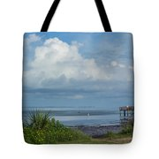 Fishing From The Pier Tote Bag