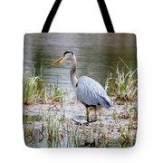 Fishing Heron  Tote Bag