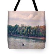 Fishing In Autumn Tote Bag by Jai Johnson