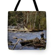 Fishing In Pacific Northwest Tote Bag