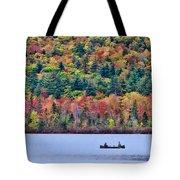 Fishing In The Fall Colors On Lake Chocorua Tote Bag