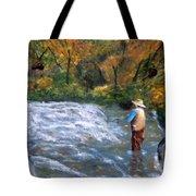 Fishing In The Fall Tote Bag