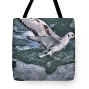 Fishing In The Foam Tote Bag