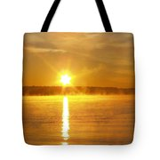 Fishing In The Fog Tote Bag