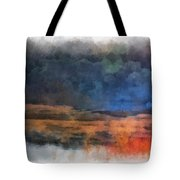 Fishing In The Fog Photo Art Tote Bag