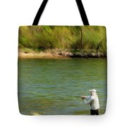 Fishing Lake Taneycomo Tote Bag