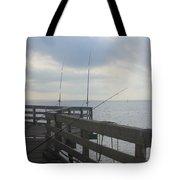 Fishing Off Rodanthe Pier Tote Bag