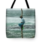 Fishing On A Pole Tote Bag