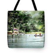 Fishing On Lazy Days - Aucilla River Florida Tote Bag