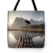 Fishing On Li River Tote Bag