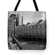 Fishing On The Harbor Tote Bag