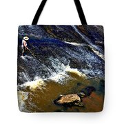 Fishing On The South Fork River Tote Bag