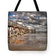 Fishing Pier Tote Bag