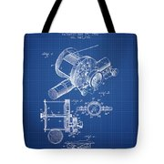 Fishing Reel Patent From 1907 - Blueprint Tote Bag