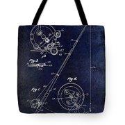Fishing Reel Patent 1939 Blue Tote Bag