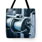 Fishing Reels On A Charter Boat Tote Bag
