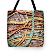 Fishing Ropes And Net Tote Bag