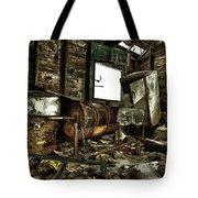 Fishing Shack Posterized Tote Bag