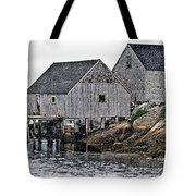 Fishing Sheds At Peggy's Cove Tote Bag
