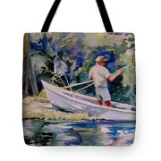 Fishing Spruce Creek Tote Bag