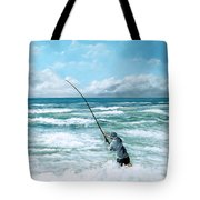 Fishing The Gutters Tote Bag