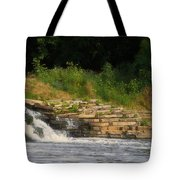 Fishing The Spillway Tote Bag