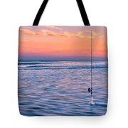 Fishing The Sunset Surf - Horizontal Version Tote Bag
