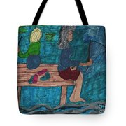 Fishing Under The Evening Sky On A Cool Autumn Night Tote Bag