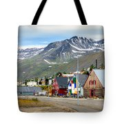 Fishing Village In Iceland Tote Bag
