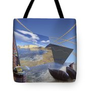 Fishing With Paint Tote Bag