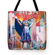 Fishman In Vegas Tote Bag by Joshua Morton
