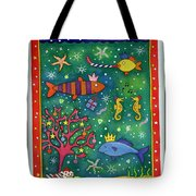Fishy Christmas, 1997 Wc And Pastel On Paper Tote Bag