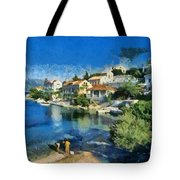 Fiskardo Beach In Kefallonia Island Tote Bag