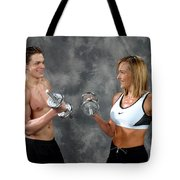 Fitness Couple 9 Tote Bag