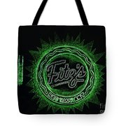 Fitz's In Green Neon  Tote Bag