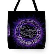 Fitz's In Purple Neon Tote Bag