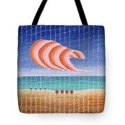 Five Beach Umbrellas Tote Bag