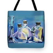 Five Clear Bottles Tote Bag